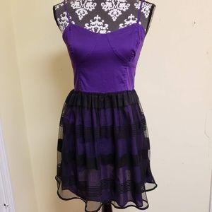 Aeropostale A Line Dress Sheer Skirt, sz L